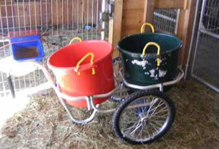 Muck Caddy with feed buckets