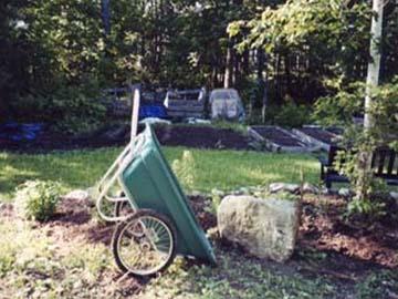 Tipping garden materials